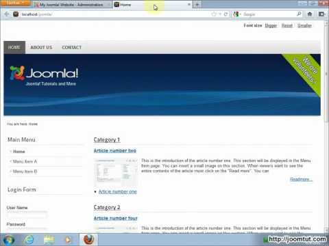 Install and using OT - News Module in Joomla! 2.5
