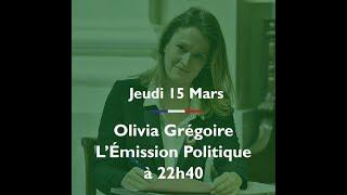 Arrivée d'Olivia Grégoire sur le plateau de L'Émission Politique