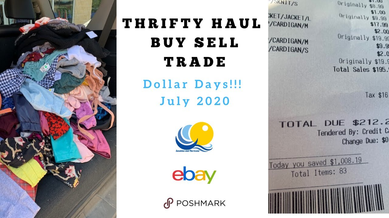 Thrift Haul At Buy Sell Trade Store What Did I Buy And Save 1 000 Dollars Ebay Poshmark Resale Youtube
