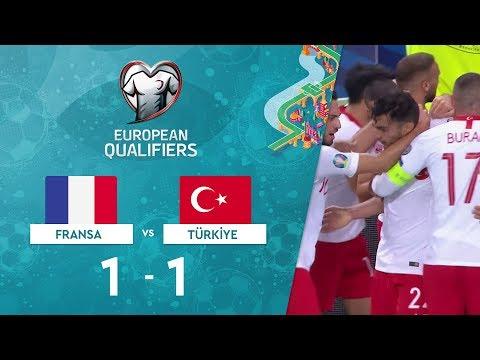 Fransa 1-1 Türkiye   EURO 2020 Elemeleri Maç Özeti - H Grubu