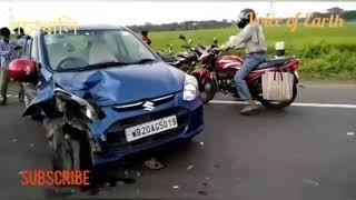 Goghat pochakhali naka checked accident by civic police গোঘাটে পচাখালি accident পুলিশ কে মার