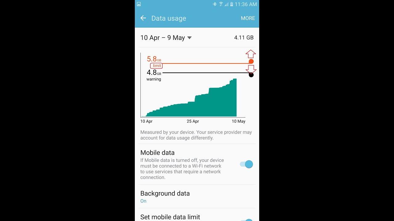 how to check how much data used on iphone how to check mobile data usage and set up warning and 4748