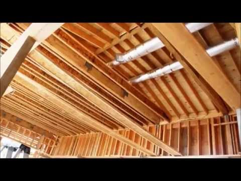 Installing wood ceiling joists or beams youtube for Adding wood beams to ceiling