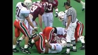 1993 Sugar Bowl - #1 Miami vs. #2 Alabama Highlights
