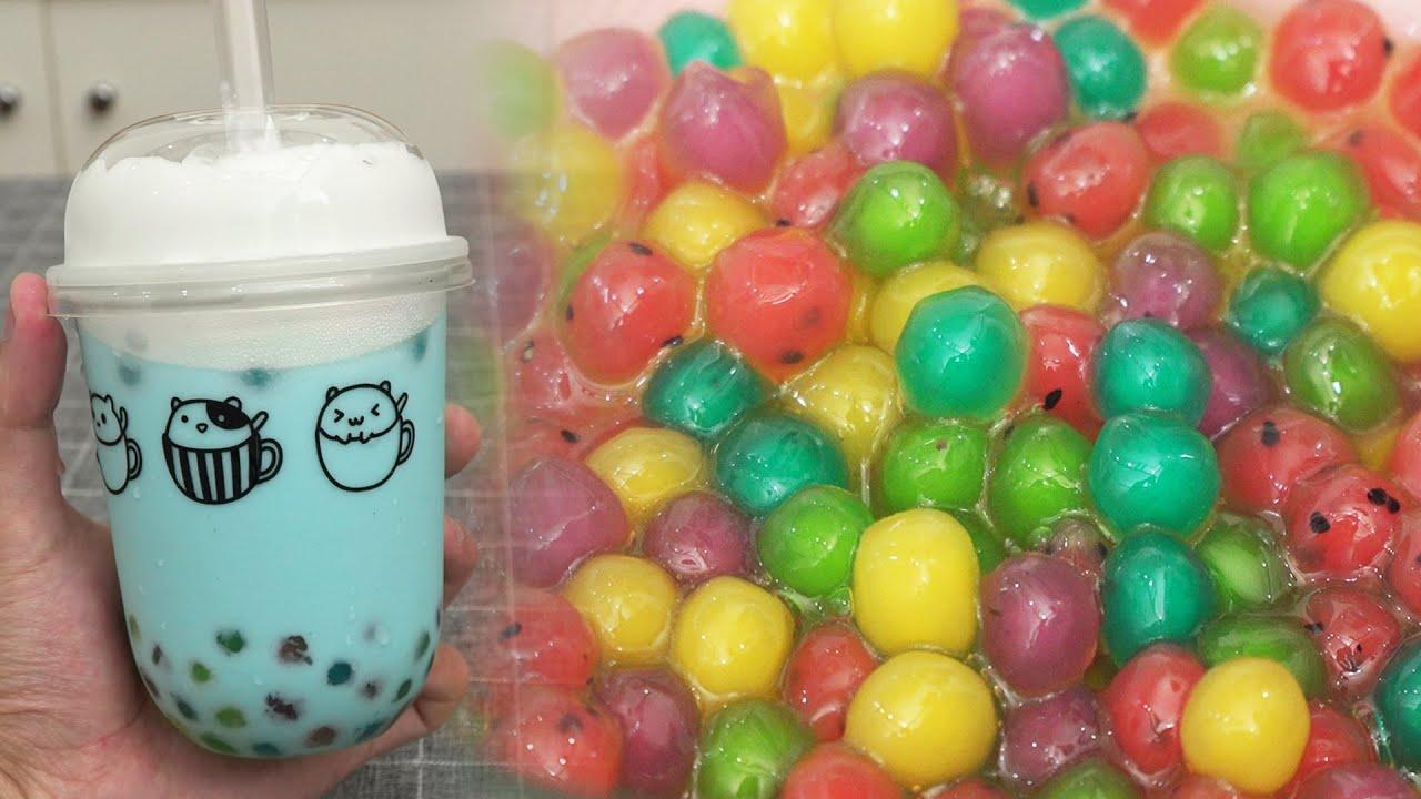 Fruit Tapioca Pearls & Blue Sky Milk Tea Recipe