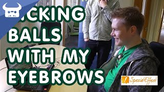 kicking balls with my eyebrows at the gamers charity specialeffect