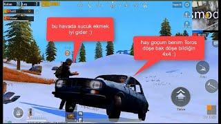 PUBG Mobil Toros ile arkadaşla karlı yollardayız :)