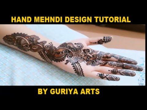 Hand Mehndi Design - Back Hand Mehndi Design Step by Step Tutorial 2018