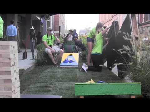 URI architecture students turn a parking space into a park for a day. Providence Journal video by To