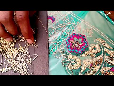 Beautiful Hand Embroidery Dresses | Zardozi work embroidery ideas | Embroidery flower step 1-2 HD