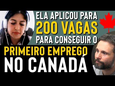 Ela conta como conseguiu o primeiro emprego no Canadá depois de aplicar para mais de 200 vagas