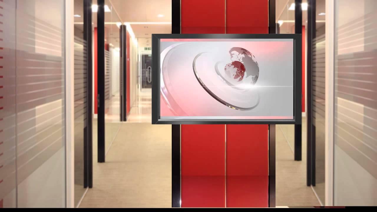 Free Virtual News Studio Background Set Globe HD