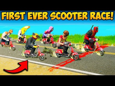 *FIRST EVER* SCOOTER RACE IS INSANE!! - Fortnite Funny Fails And WTF Moments! #873