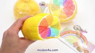 Scented Cheeki jumbo rainbow lemon squishy by Puni Maru