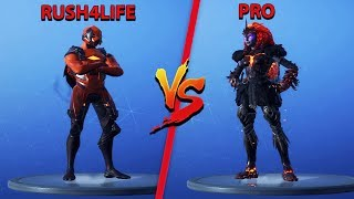 RUSH4LIFE VS FORTNITE PRO PLAYER! (Custom Mode: Storm Wars)