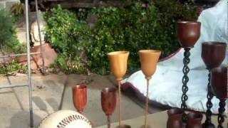 Woodworking Projects:exotic Wood, Twisted Pedestals, Open Spiral Goblets,baseball Mosaic, Small Tabl