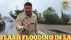 Weather man Dan! Los Angeles Rain Storm- Encino, California-Travel Man Dan