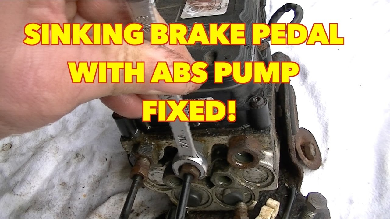 How I removed my ABS PUMP Sinking Brake Pedal~! Expedition