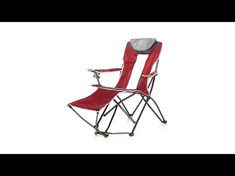 Folding Chair With Footrest Deck Replacement Covers Australia Youtube