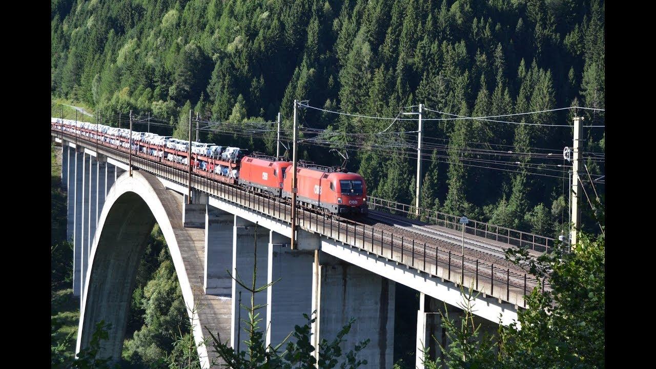 Zugverkehr auf der Tauernbahn / Pfaffenbergbrücke / 22.08.2016