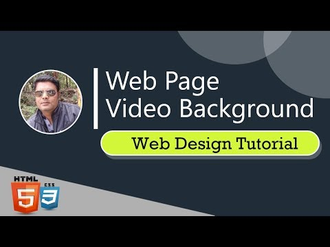 Full Screen Video Background With Html And CSS | Webdesign Tutorial
