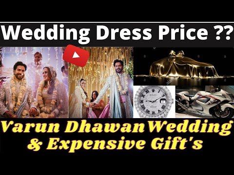 varun-and-natasha-wedding-&-expensive-gift's- -wedding-dress-price- -gossip-to-gossip- -urdu-/-hindi