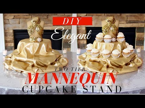 DIY Cake Stand | Mannequin Cupcake Stand | DIY Two Tier Cupcake Stand