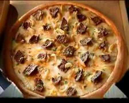 Philly steak and cheese pizza dominos