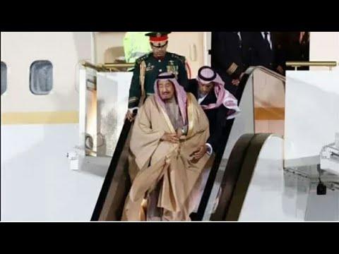 dfaaf428a تعطل سلم طائرة الملك سلمان شاهد ردة فعل الفغم الحارس الشخصي للملك