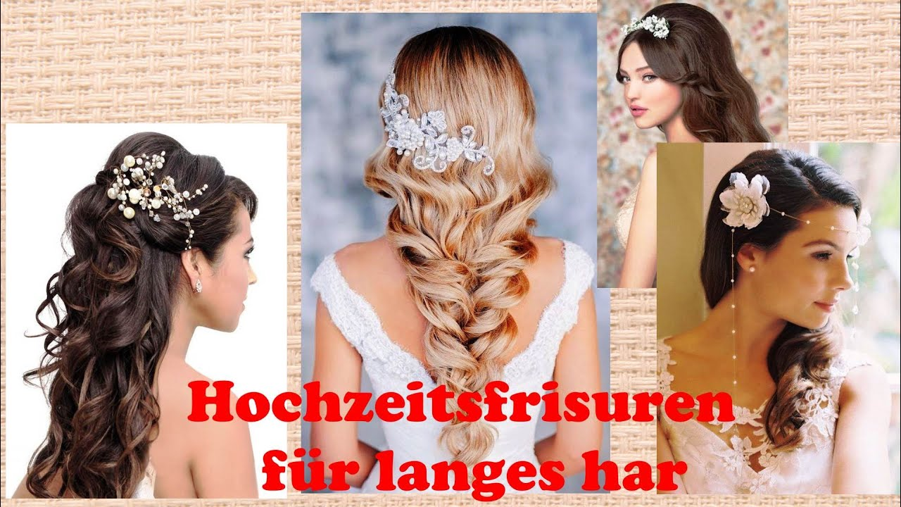 hochzeitsfrisuren f r langes har youtube. Black Bedroom Furniture Sets. Home Design Ideas