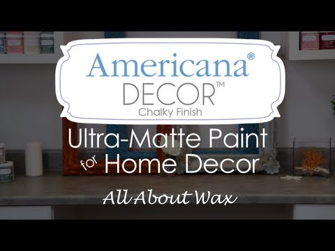 Americana Decor Chalky Finish Paint- Waxes