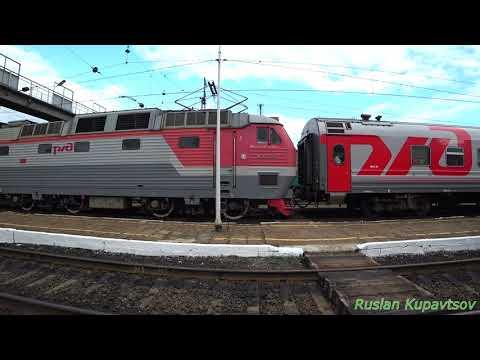 ЧС7-256  с поездом 746ж Белгород-Москва на станции Ржава