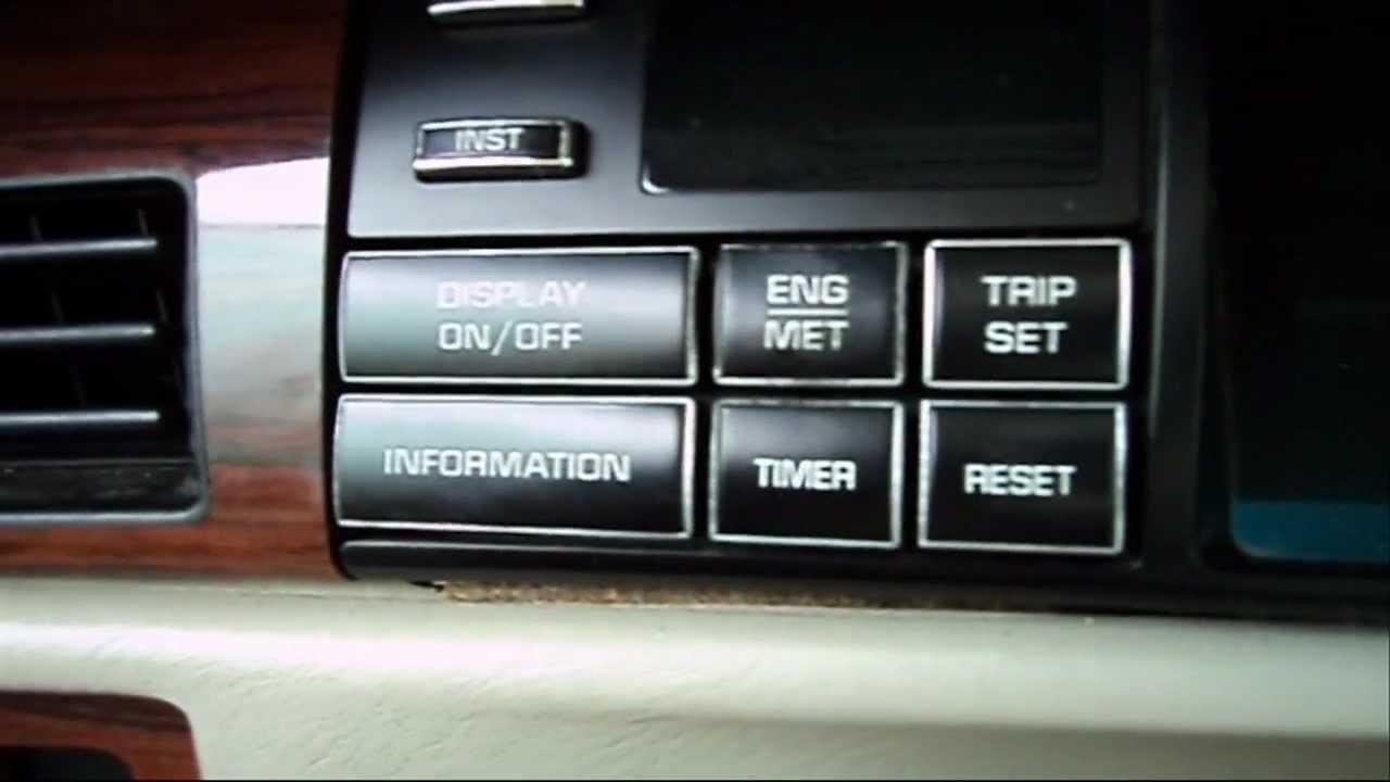 1994 Deville Driver Information Center Rpm Engine