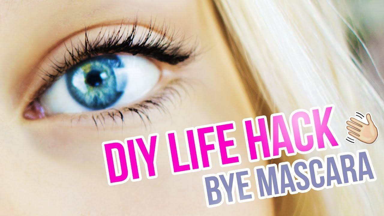 Diy Eyelash Tutorial I How To Dark Lashes Without Mascara I Semi