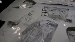 في غزة.. شخصيات بارزة تتحول إلى لوحة فنية بقلم العصار