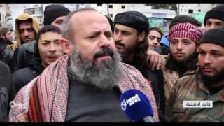 مظاهرات حاشدة في مدينة ادلب نصرة لحلب