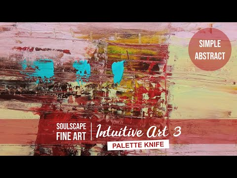 #73 Acrylic Abstract Painting Techniques for Beginners with Palette Knife / Intuitive Art 3