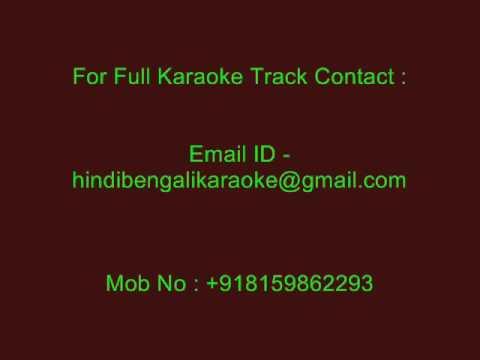 Amar Chokher Joler Majhe - Karaoke - Chitra Singh