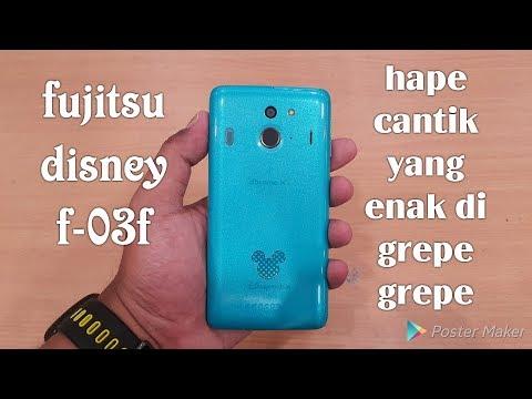 Fujitsu disney mobile f-03f aslinya lebih cantik(video grepe grepe/hands on)