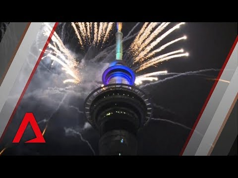 New Zealand rings in the New Year with fireworks in Auckland