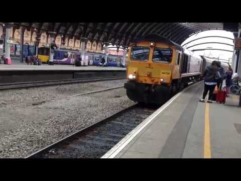*class 66 charter* Trains at York (14/04/18)