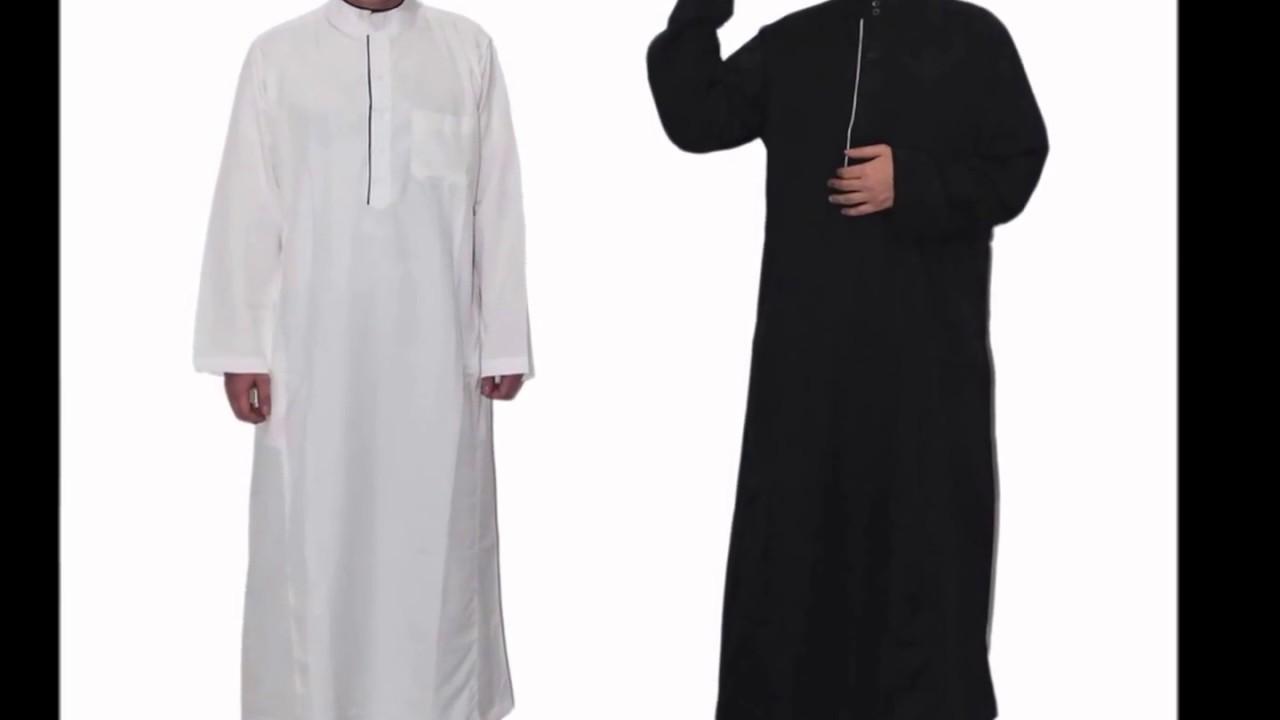 Baju Koko Gamis Pria Jubah Thobe Ala Saudi Timur Tengah Elegan - YouTube