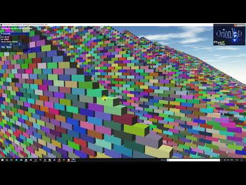 OrionX3D Nvidia PhysX V4.1.0 Test 2 Optimization.
