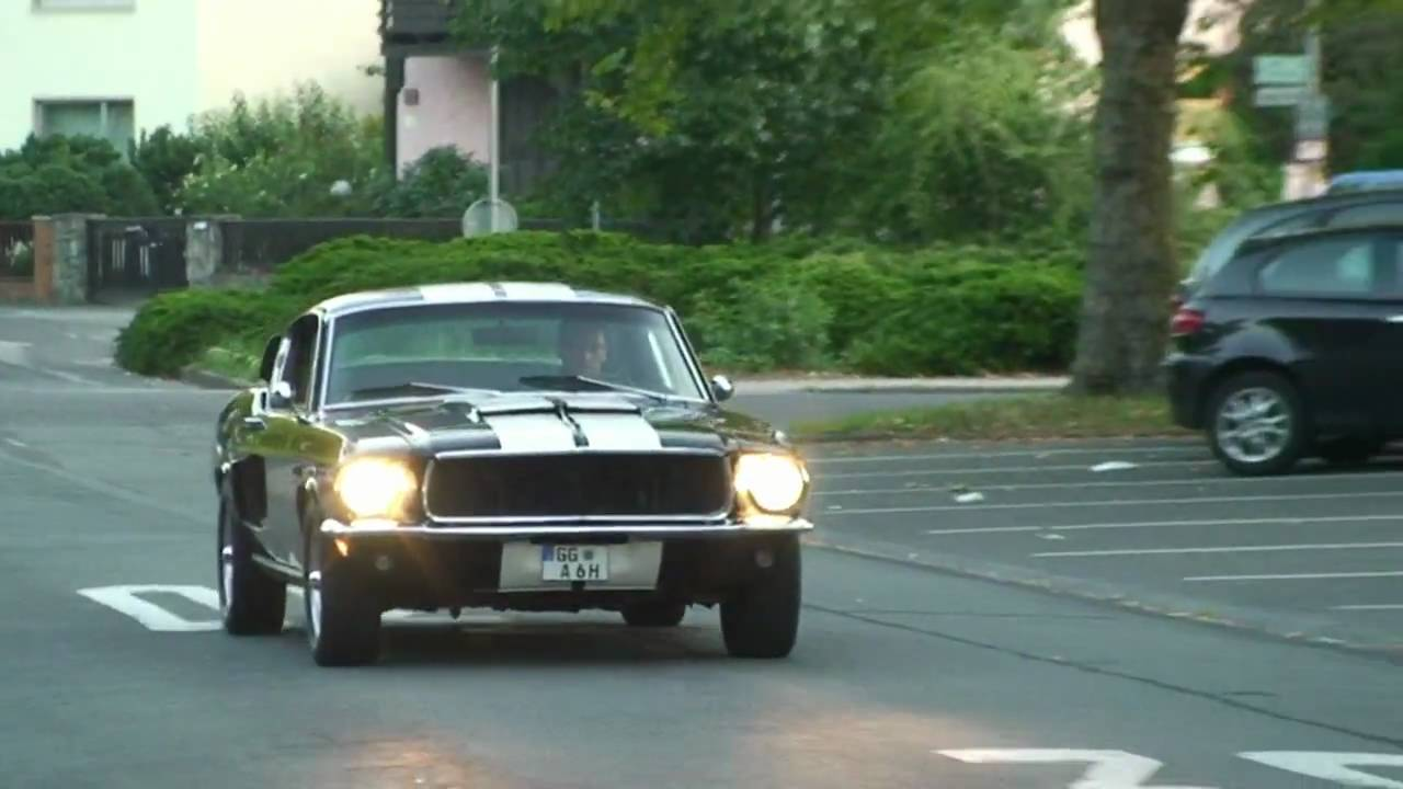 1968 ford mustang fastback in germany youtube. Black Bedroom Furniture Sets. Home Design Ideas