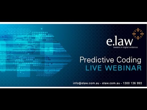 e.law CLE Webinar: Predictive Coding - from Theory to Practice; Aug 2013