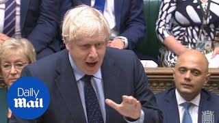 Boris booed by MPs as he insists the UK 'still stands for democracy'