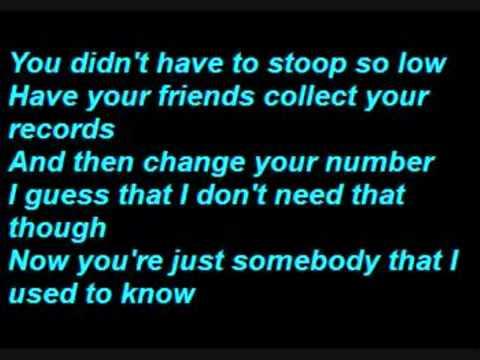 Gotye  Somebody that I Used to know  Lyrics + DOWNLOAD