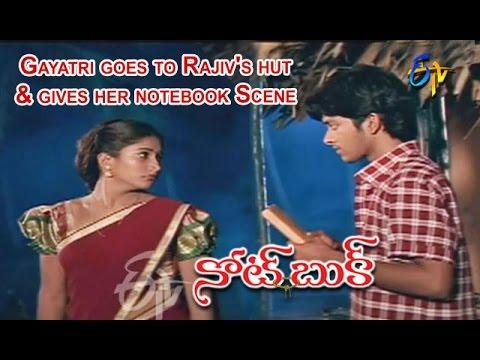 Notebook Telugu Movie | Gayatri goes to Rajiv's hut & gives her Notebook Scene | Rajiv | ETV Cinema