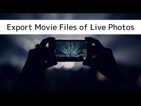How to Export Live Photo Movie Files to Mac or PC