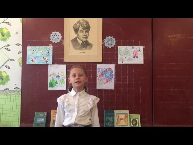 Изображение предпросмотра прочтения – АнастасияЧепурченко читает произведение «Поёт зима - аукает...» С.А.Есенина